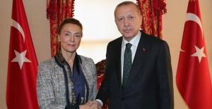 Cumhurbaşkanı Erdoğan, Avrupa Konseyi Genel Sekreteri Buric İle Görüştü