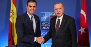 Cumhurbaşkanı Erdoğan, İspanya Başbakanı Sanchez İle Bir Araya Geldi