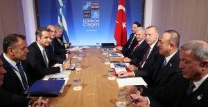 Cumhurbaşkanı Erdoğan, Yunanistan Başbakanı Micotakis İle Görüştü