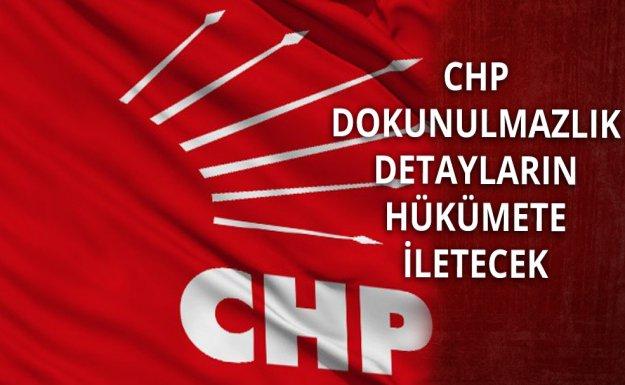 CHP Dokunulmazlık Detaylarını AK Partiye İletecek