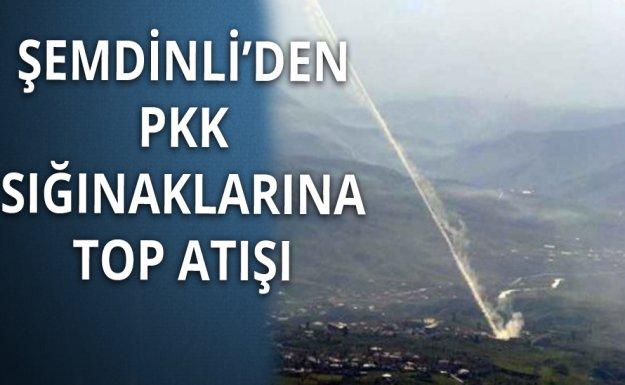 PKK'ya 1 Saat Kesintisiz  Top Atışı Yapıldı
