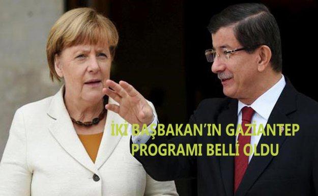 Davutoğlu Ve Merkel'in Antep Programı Belli Oldu