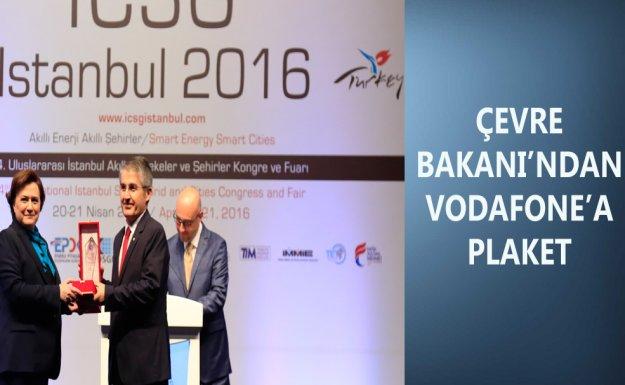 Çevre Bakanı'ndan Vodafone'a Anlamlı Plaket