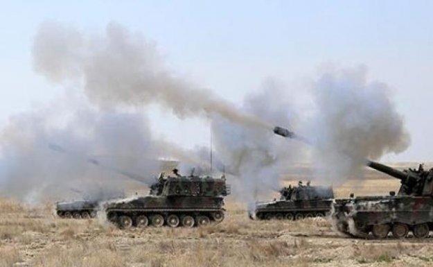 DAEŞ'in Füze Rampası Fırtına Obüsleriyle Vuruldu