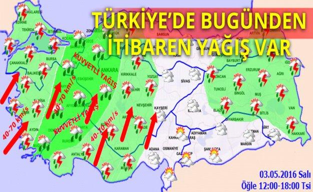 Türkiye'de Bugünden İtibaren Yağış Bekleniyor