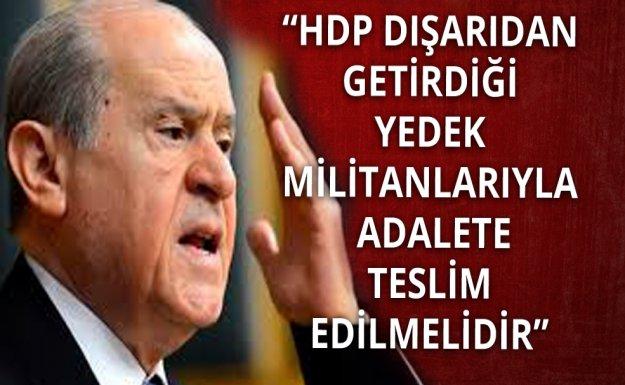MHP Lideri: HDP TBMM'yi Terörize Etmektedir
