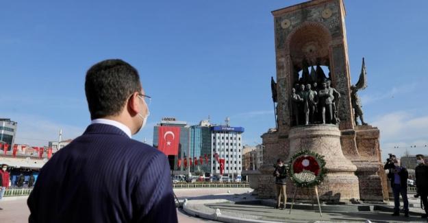 İmamoğlu, 23 Nisan'ın 101'nci Yıldönümünde Taksim'deydi