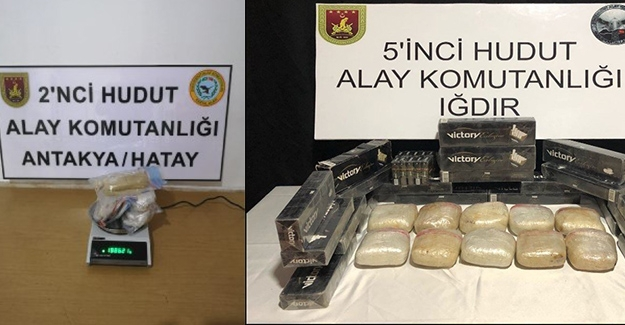 Van, Hakkari, Hatay Ve Iğdır Hudut Hatlarında 24. 173 Paket Kaçak Sigara Ve 114.862 Gram Uyuşturucu Madde Ele Geçirildi