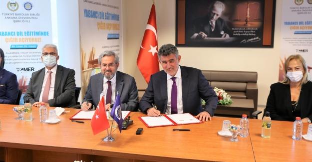 TBB İle Ankara Üniversitesi (TÖMER) Arasında Yabancı Dil Eğitiminde İş Birliği