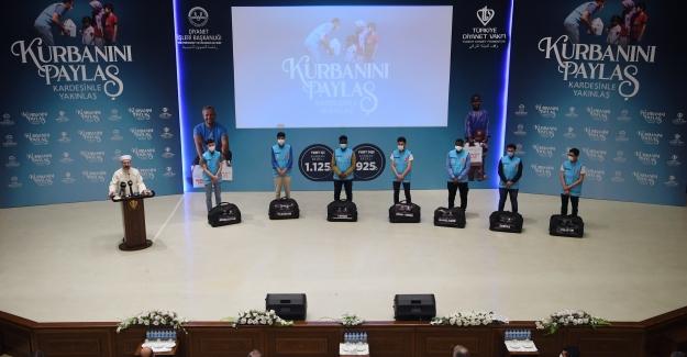 Diyanet İşleri Başkanı Erbaş, 2021 Yılı Vekâlet Yoluyla Kurban Kesim Bedellerini Açıkladı