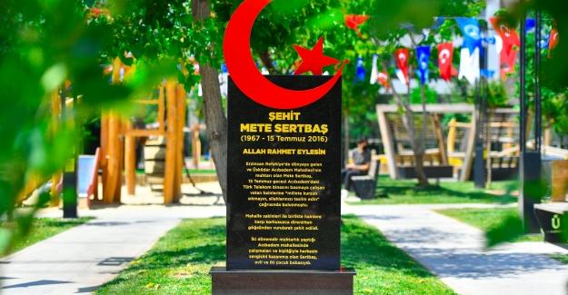 15 Temmuz Şehidi Mete Sertbaş'ın İsmi Üsküdar'da Parka Verildi