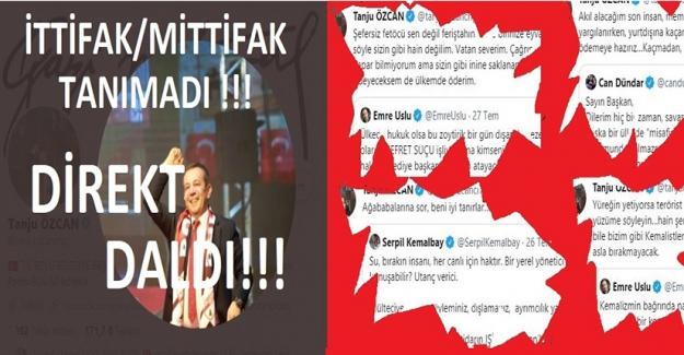 """Tanju Özcan İttifak-Mittifak Dinlemedi, """"Damardan"""" Daldı !!!"""