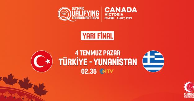 A Erkek Milli Takımımızın, FIBA Erkekler Olimpiyat Elemeleri Yarı Finalindeki Rakibi Yunanistan