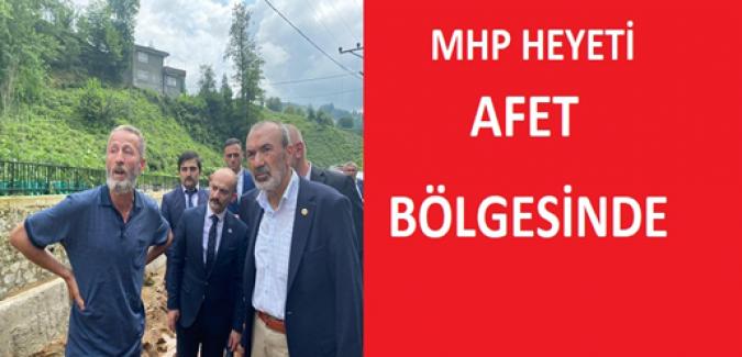 MHP Heyeti AFET Bölgesinde