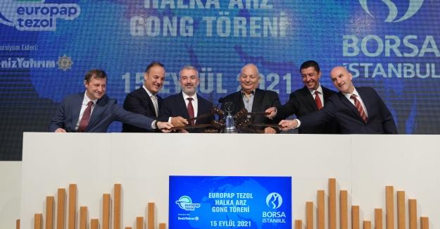 Borsa İstanbul'da gong Europap Tezol Kağıt İçin Çaldı