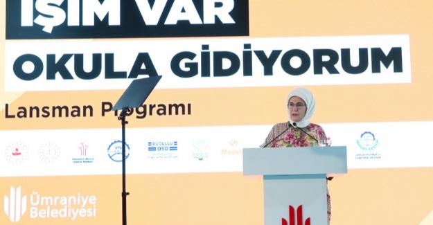 """Emine Erdoğan """"İşim Var. Okula Gidiyorum"""" Projesinin Tanıtımına Katıldı"""