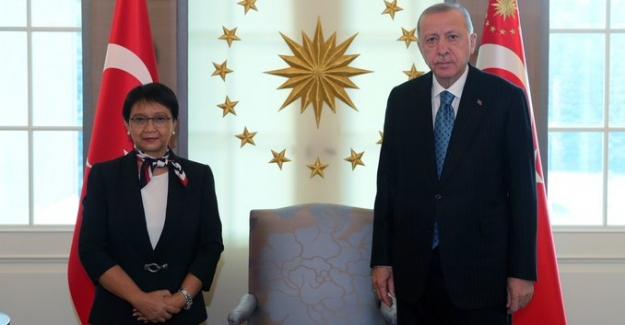 Cumhurbaşkanı Erdoğan, Endonezya Dışişleri Bakanı Marsudi'yi Çankaya Köşkü'nde Kabul Etti