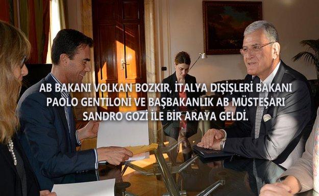 AB Bakanı ve Başmüzakereci Bozkır, İtalya'da
