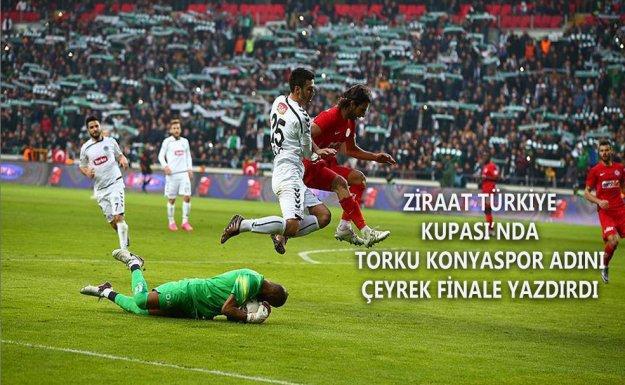 Kupa da Torku Konyaspor Antalyaspor'u Eledi