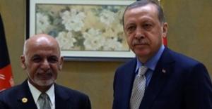 Cumhurbaşkanı Erdoğan Afganistan Cumhurbaşkanı Gani İle Görüştü