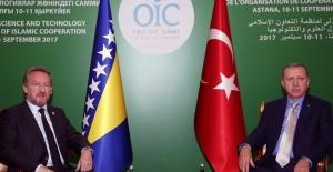 Cumhurbaşkanı Erdoğan Bosna- Hersek Başkanlık Konseyi Üyesi İzetbegoviç'i Kabul Etti