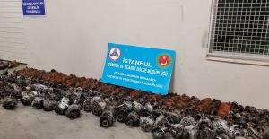 Kocaeli Liman Sahasında  821 Adet Araba Yedek Parçası Ele Geçirildi