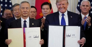 Çin İle ABD Birinci Faz Ekonomik Ve Ticari Anlaşmasını İmzaladı