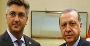 Cumhurbaşkanı Erdoğan, AB Dönem Başkanı Hırvatistan'ın Başbakanı Plenkovic İle Telefonda Görüştü