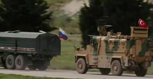 İdlib'de 15'inci Türk-Rus Birleşik Kara Devriyesi İcra Edildi