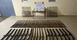 Hakkâri, Mardin, Van Ve Hatay Hudut Hatlarında 45 Adet Pompalı Tüfek, 85 Adet Av Tüfeği Ele Geçirildi
