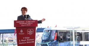 Akşener, Eminönü-Alibeyköy Tramvay Hattının Açılış Törenine Katıldı