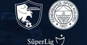 Fenerbahçe'nin Büyükşehir Belediye Erzurumspor Karşısındaki ilk 11'i