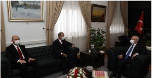 Akar ve Soylu'dan Kılıçdaroğlu'na Pençe Kartal-2 Harekâtı İle İlgili Bilgilendirme Ziyareti