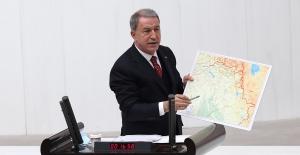 Millî Savunma Bakanı Akar, TBMM Genel Kurulunda Pençe Kartal-2 Harekâtı İle İlgili Bilgi Verdi