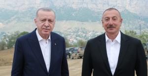 Cumhurbaşkanı Erdoğan, Azerbaycan Cumhurbaşkanı Aliyev İle Fuzuli'de Bir Araya Geldi