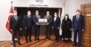 Mamak Belediye Başkanı Köse, ATO Başkanı Baran'ı Ziyaret Etti